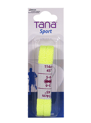 tana laces flat assortment pack 40 neon yellow